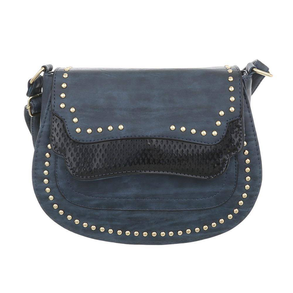 d90e5f339d09 Женская сумка седло с заклепками (Европа), Синий - Интернет-магазин Denim  Today