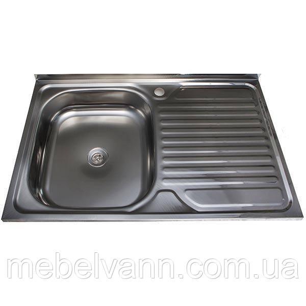 Кухонная Мойка накладная Ua 50Х80 Polish 0.4 мм, фото 1