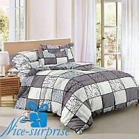 Комплект постельного белья с двумя пододеяльниками из сатина ТИРАМИСУ