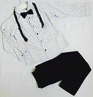 Детский костюм на мальчика (штаны, рубашка, бабочка), размеры 5-8 лет, маломерят