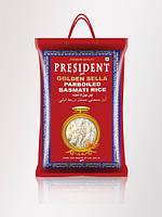 Золотистый пропаренный рис басмати President golden sella parboiled basmati rice, фото 1