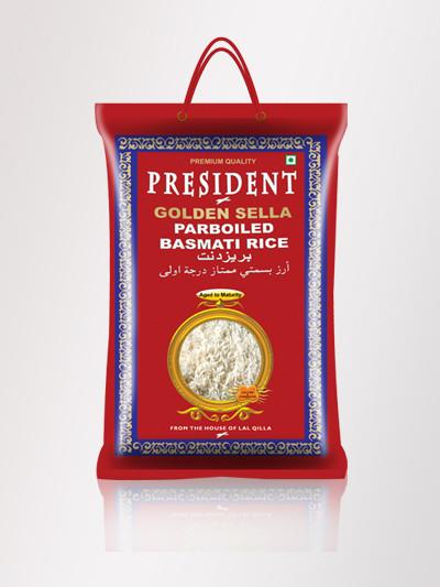Золотистый пропаренный рис басмати President golden sella parboiled basmati rice