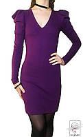 Платье French Connection р. S 42 фиолетовое мини нарядное с длинным рукавом