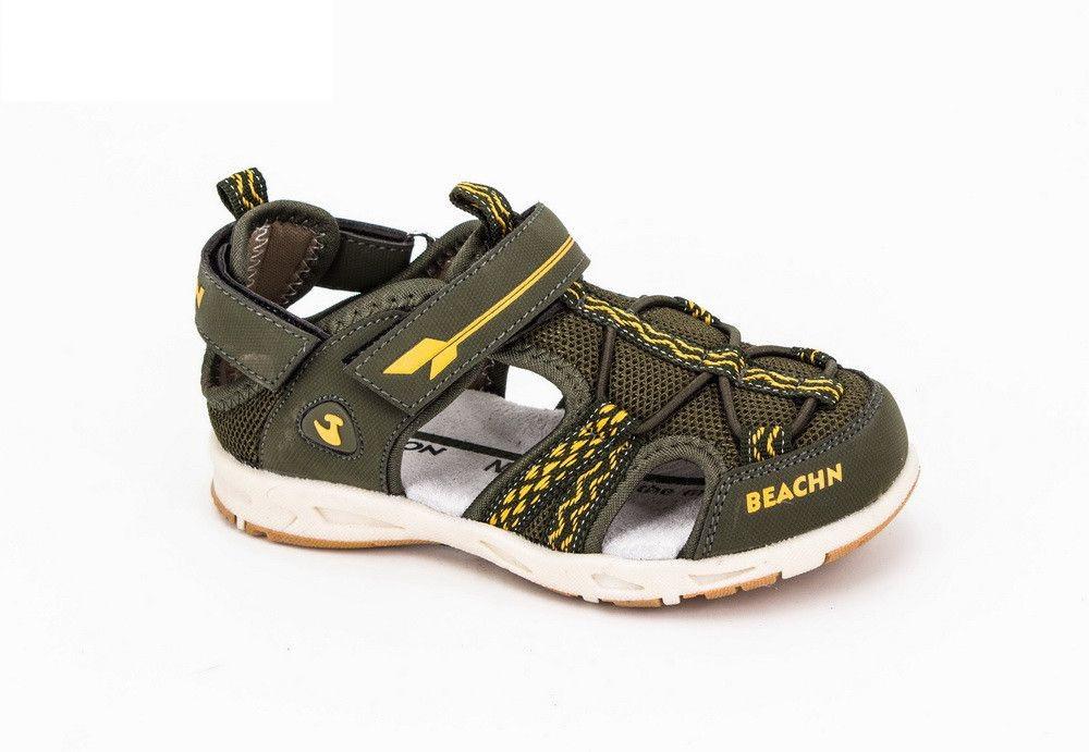 Обувь для мальчиков, босоножки хаки JongGolf
