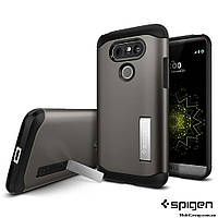 Чехол Spigen для LG G5 Slim Armor, Gunmetal