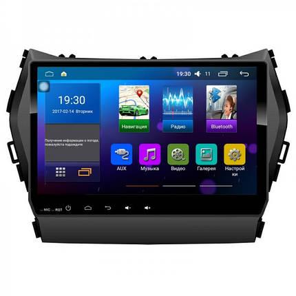 Штатная магнитола Sound Box ST-6085 Android 6.0.1 для Hyundai santa Fe 2013+ (IX45), фото 2