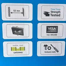 Наклонный кронштейн для телевизоров 32-55 диагонали KБ-907ST (max VESA: 400 x 400), фото 3