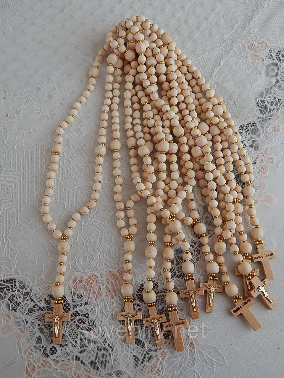 Четки деревянные православные белые 59