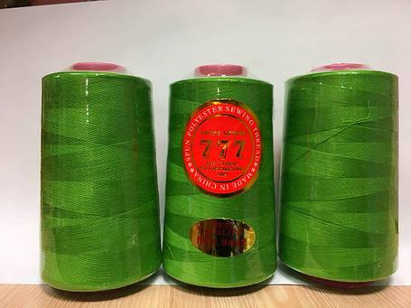 """Нитки швейные  """"777"""" - №080 (Салатовый), фото 2"""