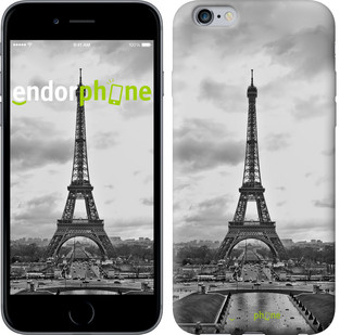 "Чехол на iPhone 6 Plus Чёрно-белая Эйфелева башня ""842c-48-571"""