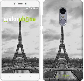 "Чехол на Xiaomi Redmi Note 4 Чёрно-белая Эйфелева башня ""842c-352-571"""