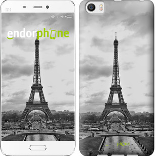 "Чехол на Xiaomi Mi5 Чёрно-белая Эйфелева башня ""842c-180-571"""