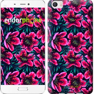 """Чехол на Xiaomi Mi5 Яркие цветы """"3102c-180-571"""""""