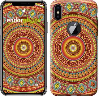 """Чехол на iPhone X Индийский узор """"2860c-1050-571"""""""