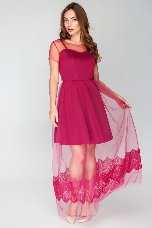 2100428adae8 Вечернее платье с фатином (3 цвета) - Интернет - магазин модной одежды и  аксессуаров