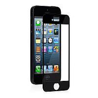 Защитная пленка с рамкой черного цвета, Moshi iVisor XT Advance Screen Protector для iPhone SE / 5S / 5 (99MO020923)