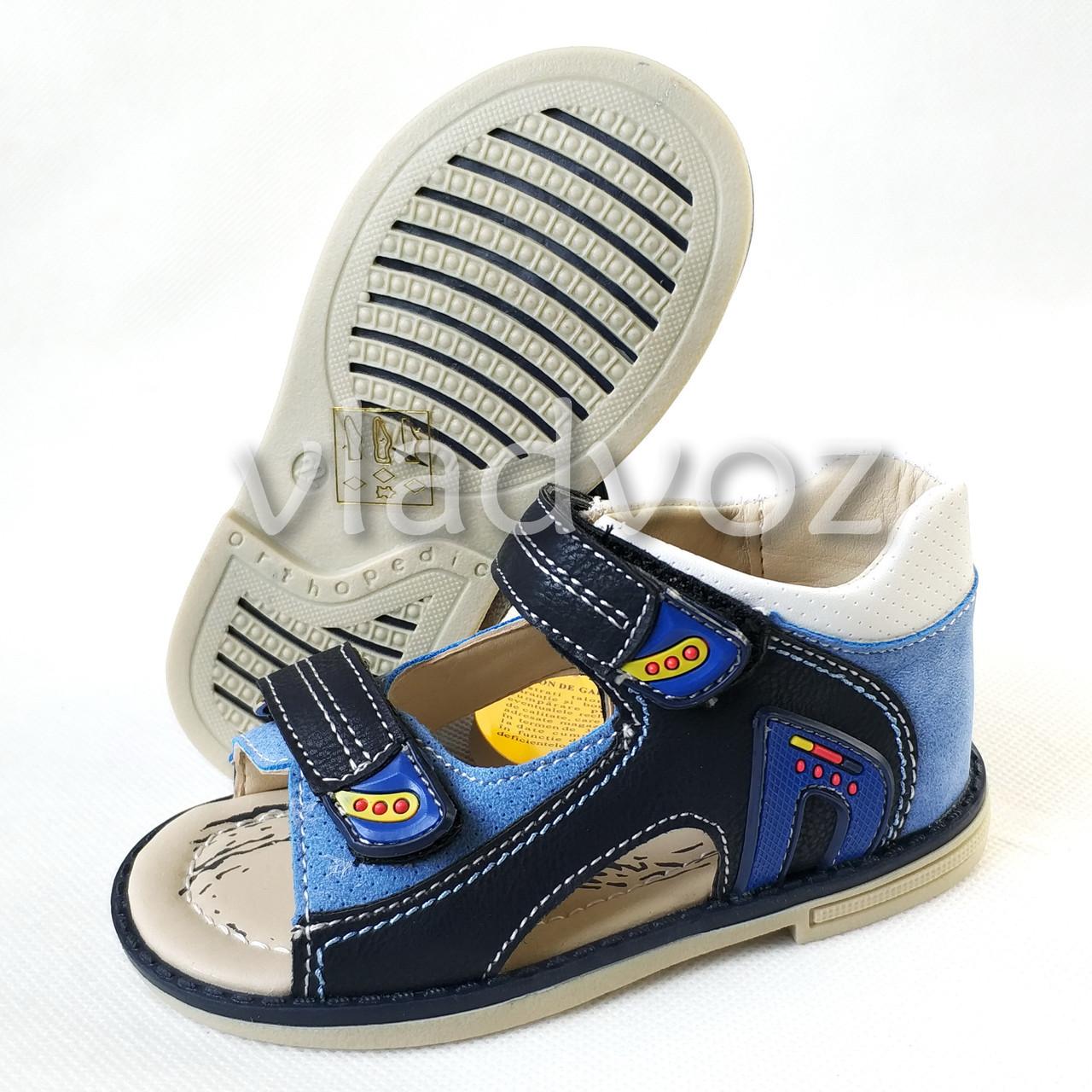Босоножки, сандалии для мальчика синик Clibee