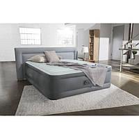 Полуторная надувная кровать Intex + встроенный электронасос 220V  137x191x46 см  (64904)
