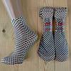 Капроновые носки с рисунком женские НК-2780