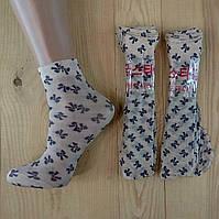 Капроновые носки с рисунком женские НК-2781, фото 1