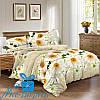 Полуторный комплект постельного белья из сатина РОМАШКИ (150*220)