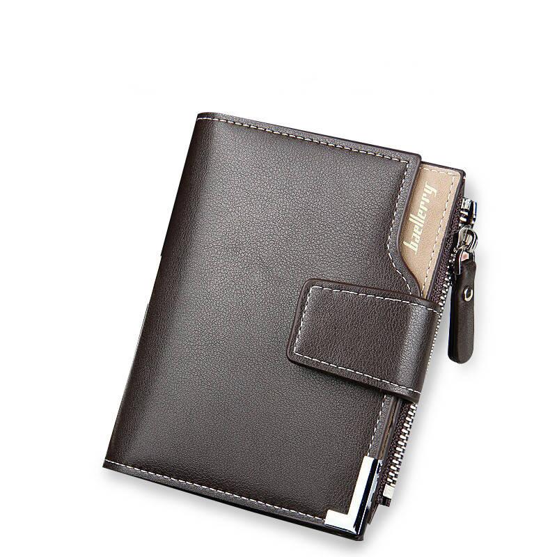 Мужской кошелек Baellerry Carteira Mini эко-кожа коричневый