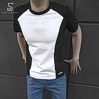 Футболка beZet tech black\white, черно-белая
