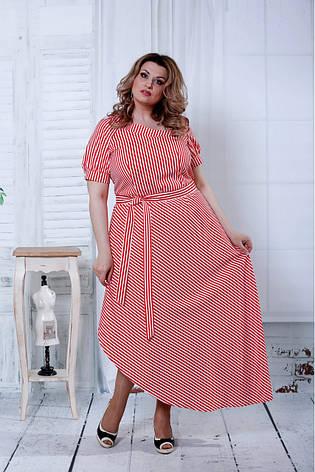 b366dfc5d4918f0 Красное платье в полоску для полных женщин 0802: 790 грн. Купить в ...