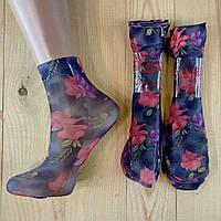 Капроновые носки с рисунком женские НК-2786, фото 1