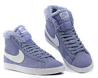 Зимние кроссовки Nike Dunk Hight Purple С МЕХОМ