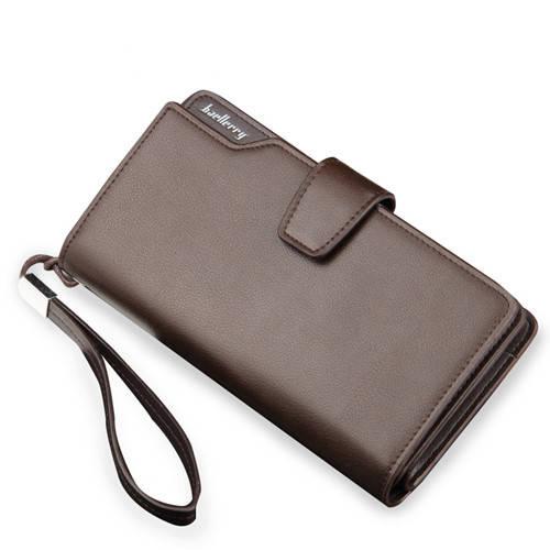 Мужской портмоне, кошелек Baellerry Business эко-кожа коричневый