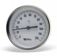 Термометр биметаллический аксиальный Watts F+R801 (Т 63/50 Ø63mm 0-120°C L-50mm) (Польша)