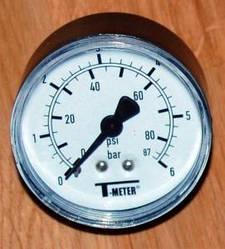 Манометр осевой (аксиальный) T-meter 0-6 bar (Польша)