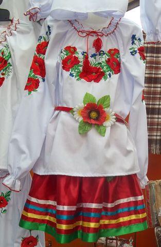 Недорогая вышиванка для девочки р.122-170