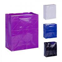 """(Цена за 12шт) Пакет подарочный бумажный """"Bao bao"""" 26х32х10см, 12 штук в упаковке, пакет для подарка, картонный пакет сувенирный, картонный подарочный"""