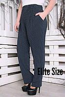 Свободные женские брюки батал на лето 615727