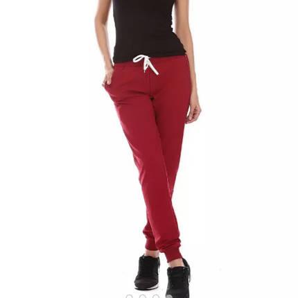 Штаны женские спортивные, бордо, фото 2