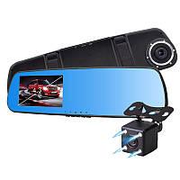 """Зеркало - видеорегистратор 4.3"""" дюйма с видеопарковкой и камерой заднего вида. Модель ЕА770"""