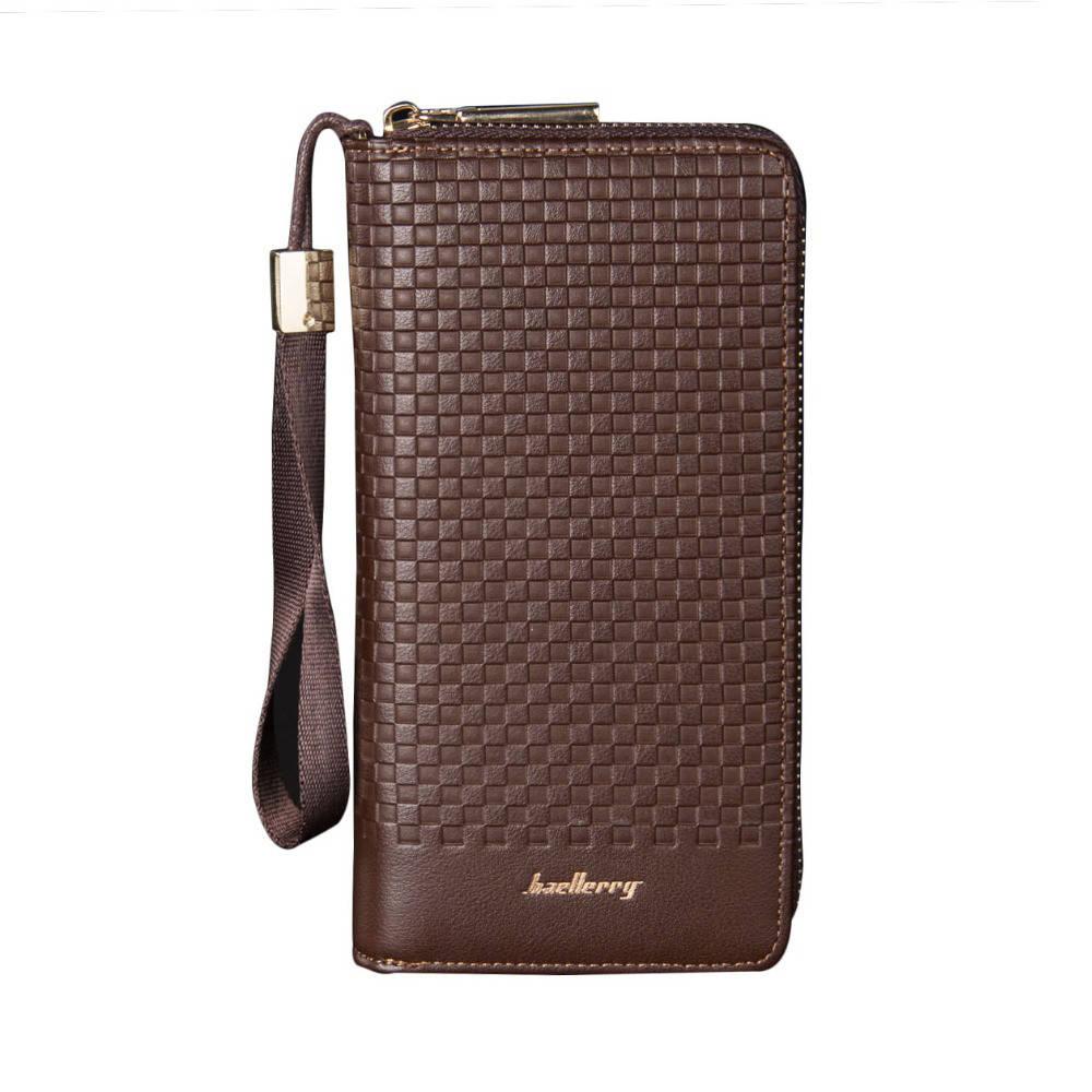 Мужской портмоне, кошелек Baellerry Cage эко-кожа коричневый