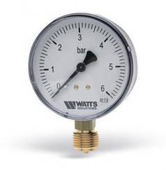 Манометр вертикальный (радиальный) Watts F+R 200 (Ø63 mm 0-6 Bar) (Польша)