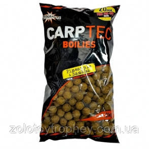 Бойлы Dynamite Baits Carptec Pineapple & Banan 20mm/2kg + free pop-ups