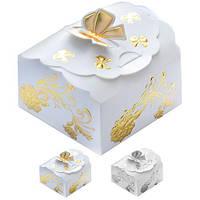 Бонбоньерка (коробочка для конфет) Jasmine N00514 в упаковке 2шт, 7*6.5*45см , бонбоньерки, свадебные бонбоньерки, бонбоньерки гостям, бонбоньерки на