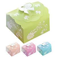 Бонбоньерка (коробочка для конфет) Jasmine N00511  в упаковке 2шт, 7*7*4.6см ,бонбоньерки, свадебные бонбоньерки, бонбоньерки гостям, бонбоньерки на