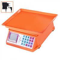 "Весы торговые ME-0897 ""Stenson"" 0-40 кг, пластик / металл, оранжевый, торговые весы, весы, весы электронные, весы электронные торговые"