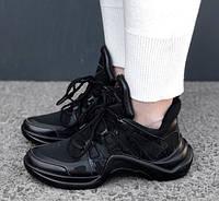 Кроссовки Louis Vuitton Archlight sneakers Triple black. Живое фото. Топ реплика ААА+