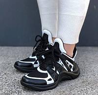 Кроссовки Louis Vuitton Archlight sneakers black/white. Живое фото. Топ реплика ААА+