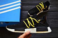 Кроссовки Adidas NMD Pharrell Williams x  'Human Race' Core Black. B Живое фото! (Реплика ААА+)