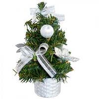 """Елка в вазоне """"Новый год"""" 8282 пластик, 20 см, елка, елка искусственная, сосна, новогодние елки, искусственные елочки, новый год, елки"""