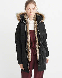 Парка Abercrombie & Fitch 3-IN-1 FAUX SHEARLING LINED PARKA