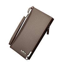 Мужской портмоне, кошелек Baellerry Classical эко-кожа коричневый